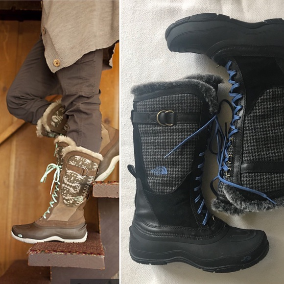 cc8ee5bed North Face Shellista Lace Luxe Boots, EUC